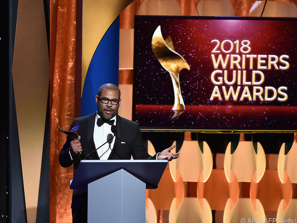 Drehbuchautor Jordan Peele erhielt den Preis für \