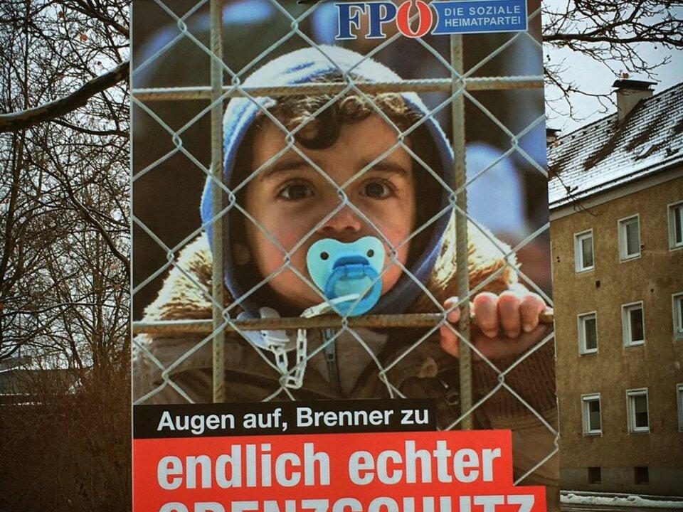 Fake-FPÖ-Wahlkampfplakat