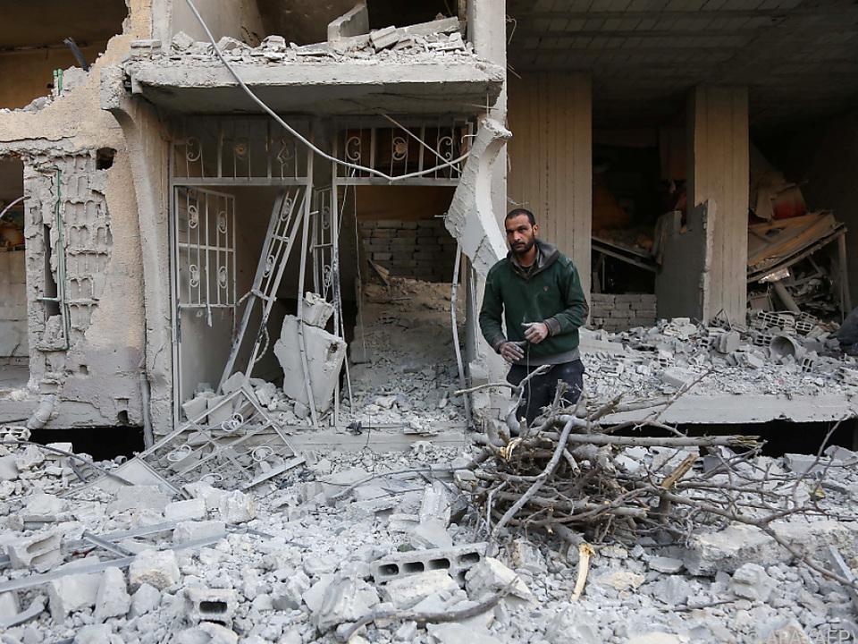 Einige Stadtteile in Syrien sind bereits komplett zerstört