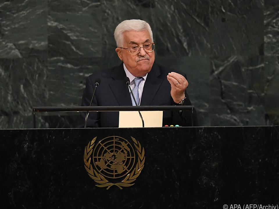 Es ist die erste Rede von Abbas vor dem UNO-Sicherheitsrat seit 2009