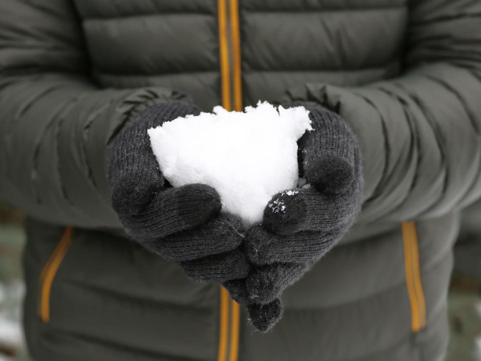 Handschuhe Mann Schnee