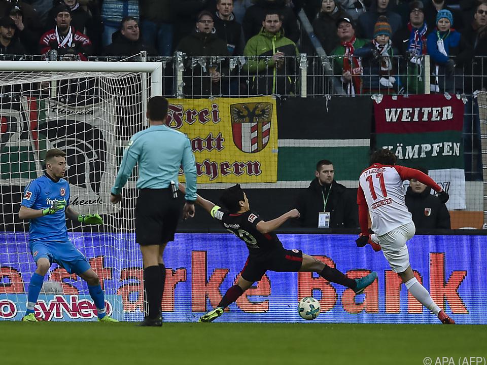 Gregoritsch trifft zum 2:0, am Ende siegte Augsburg 3:0