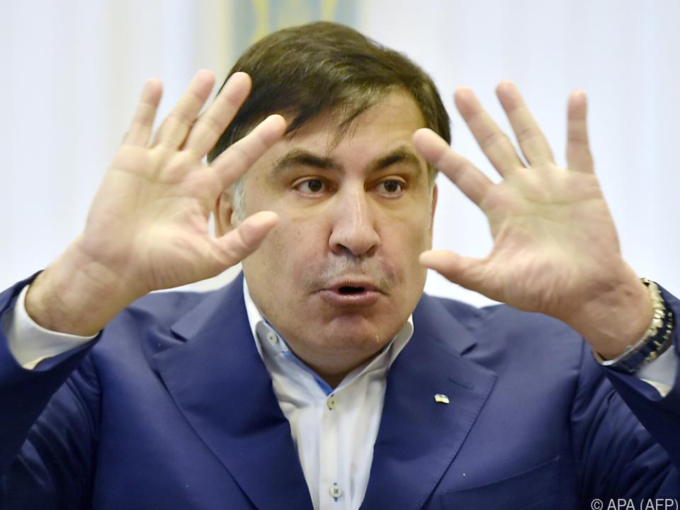 Harte Maßnahmen gegen Michail Saakaschwili in der Ukraine