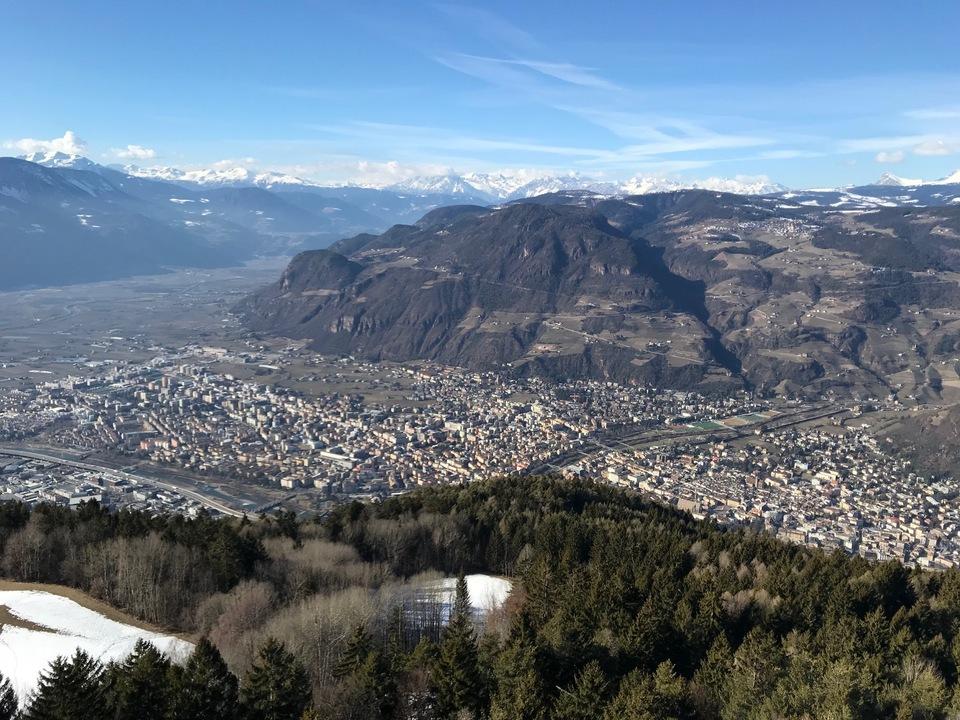 Bozen und Etschtal von Kohlern aus Südtirol sym