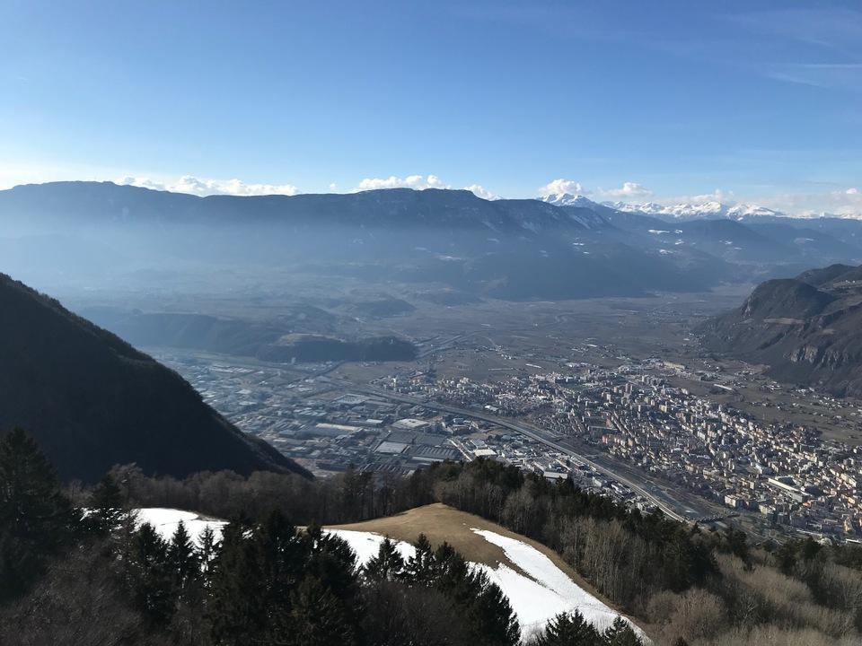 Bozen und Etschtal von Kohlern aus überetsch Südtirol sym