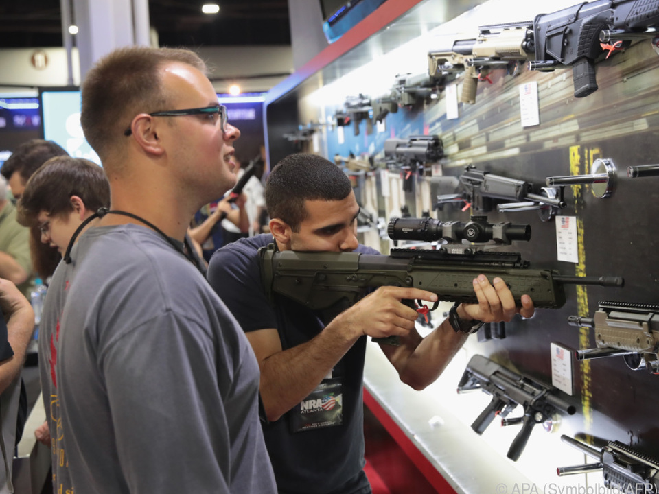 In den USA  gibts Waffen an jedem Eck