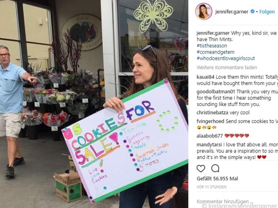Jennifer Garner hielt ihr Engagement auf Instagram fest
