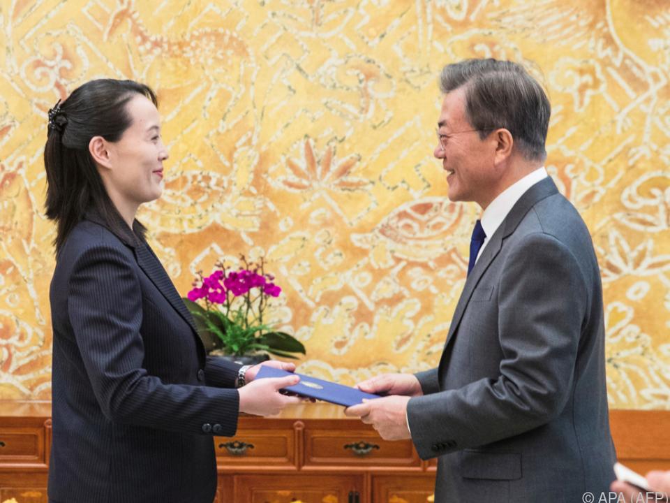 Kim Yo-jong überreichte dem südkoreanischen Präsidenten den Brief
