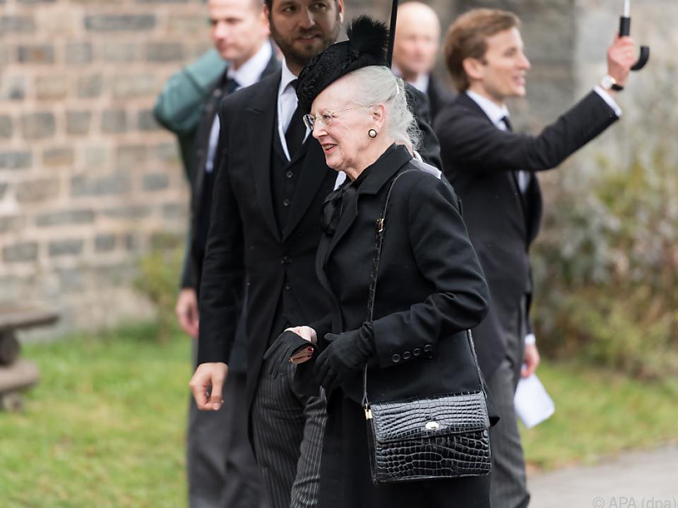 Königin Margrethe trauert um ihren Mann