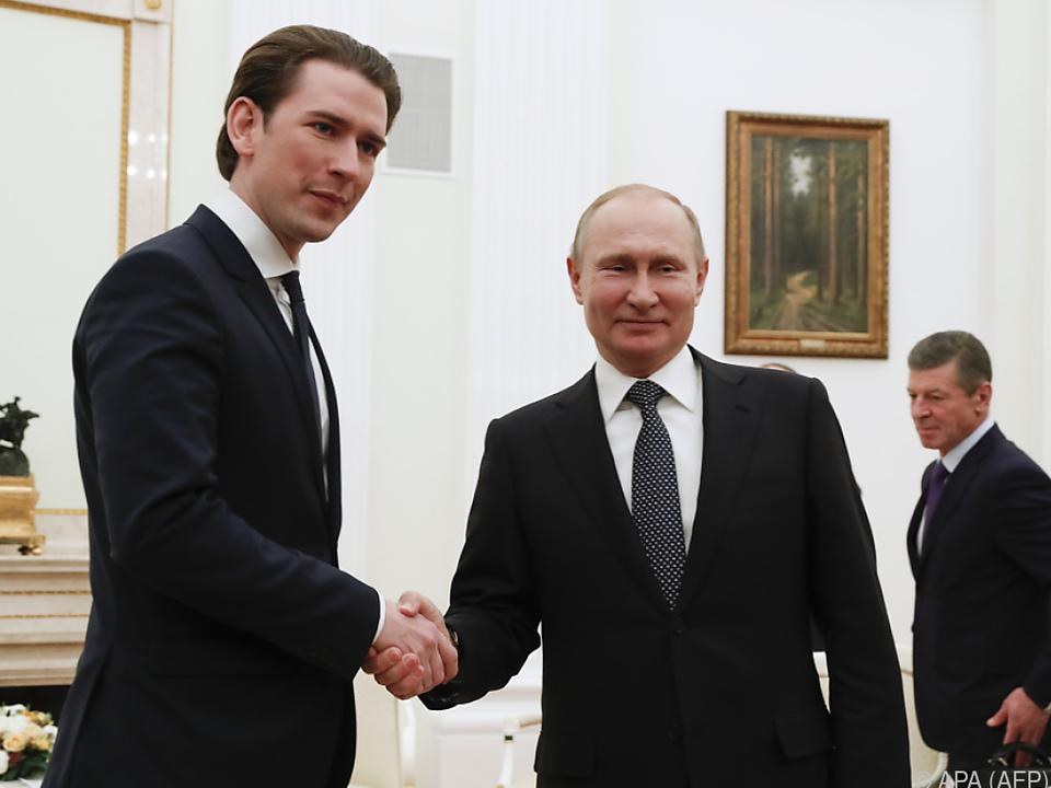 Kurz hat umfangreichen Themenkatalog mit Putin zu diskutieren