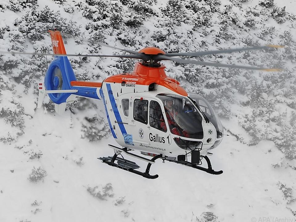 Mädchen mit Notarzthubschrauber Gallus 1 ins Spital geflogen