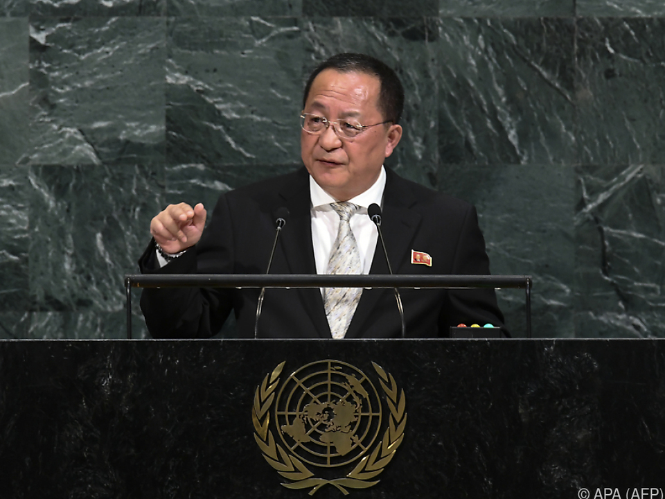 Nordkoreas Außenminister Ri Yong-ho