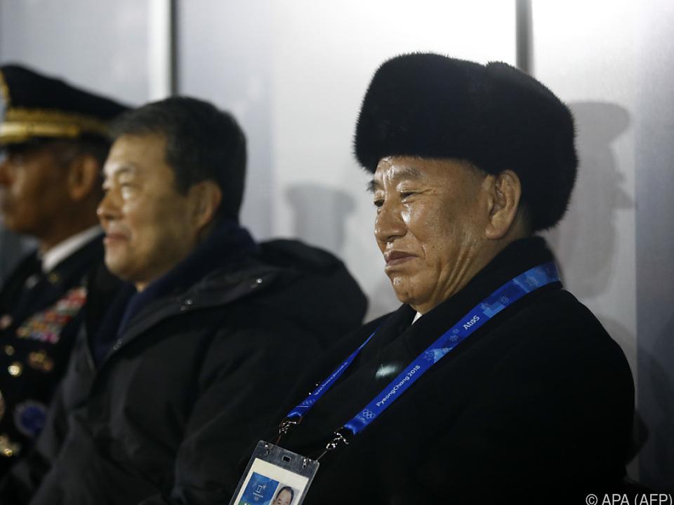 Nordkoreas General Kim Yong-chol bei Winter-Olympia im Süden