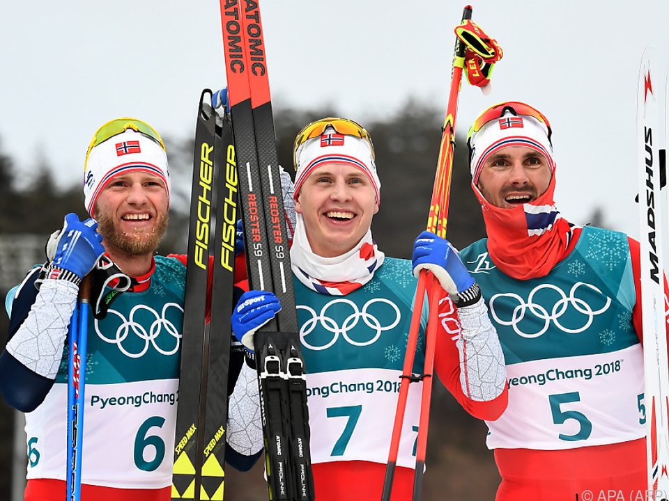 Norwegischer Dreifachsieg in der Loipe