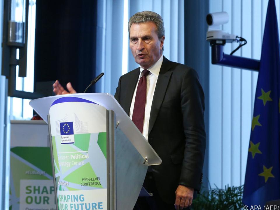 Oettinger warnte Landwirte vor