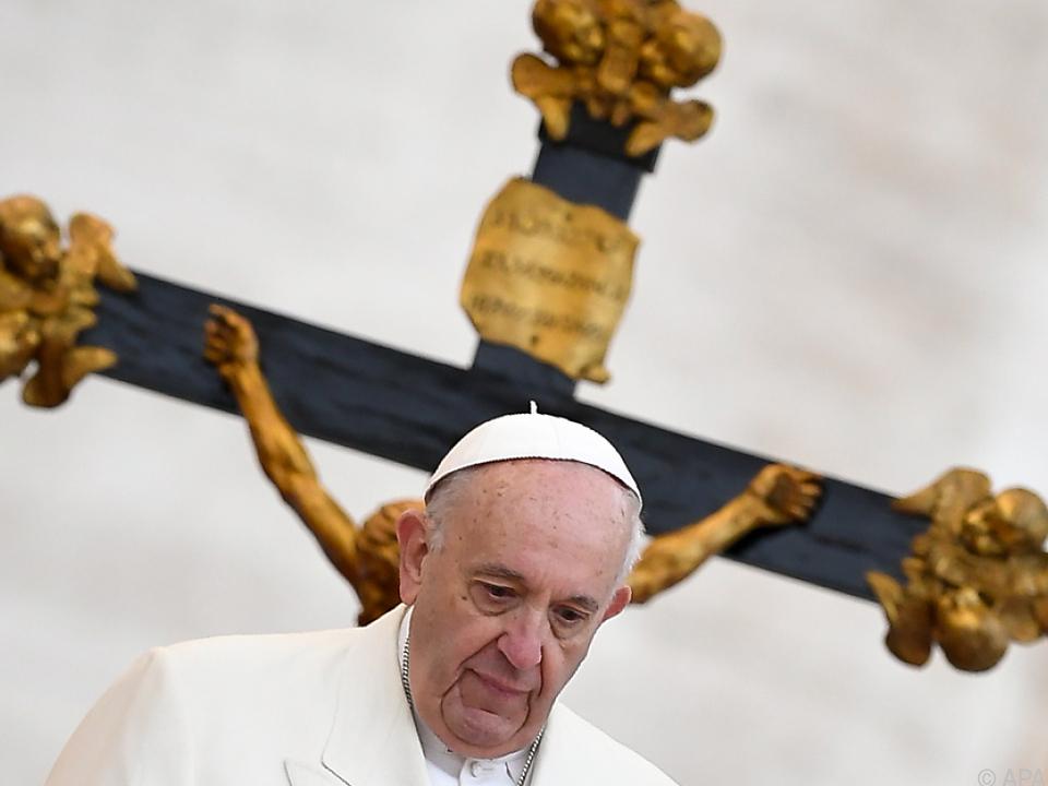 Papst Franziskus sprach von \