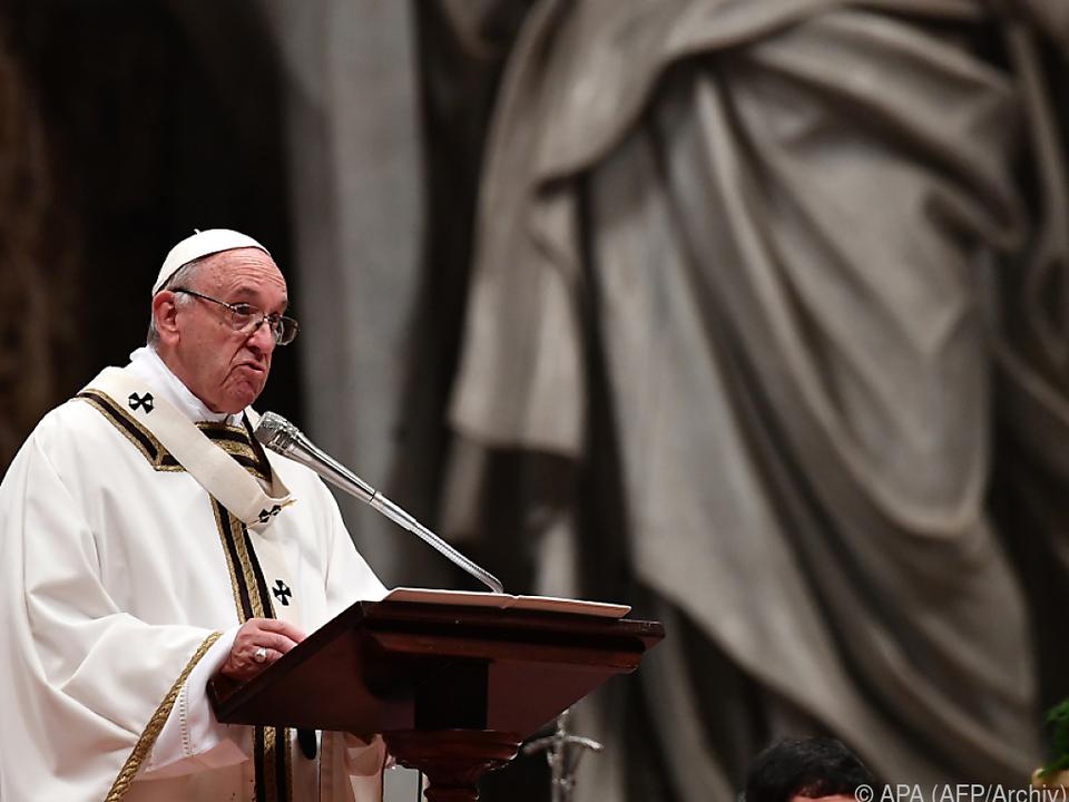 Papst spricht klare Worte