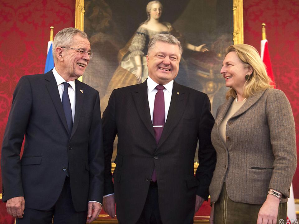 Poroschenko (m.) betonte gute Beziehungen