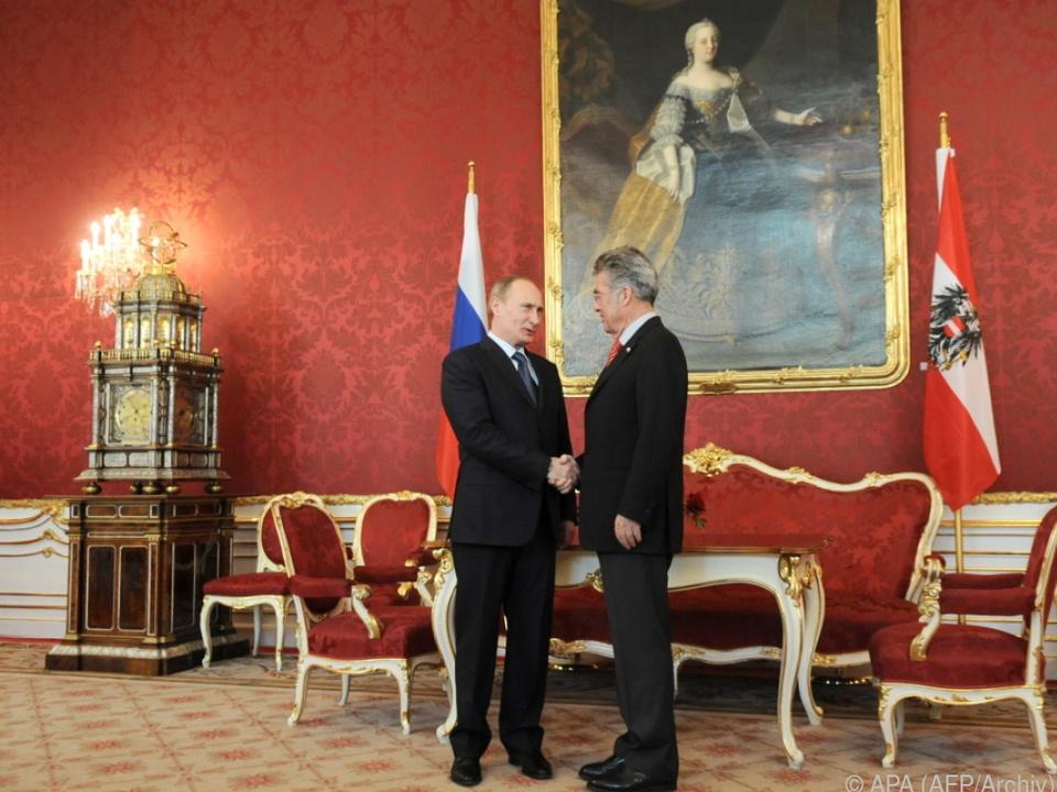 Putin hat traditionell gute Beziehungen zu Österreich