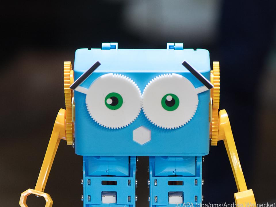 Marty, ein Lernroboter für Schüler, ist programmierbar und kann gehen