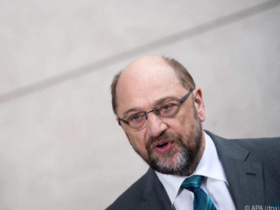 Schulz hat nicht den besten Stand innerhalb seiner Partei