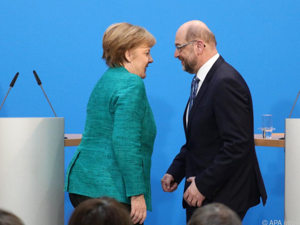 Schulz verzichtet auf den Vize von Kanzlerin Merkel