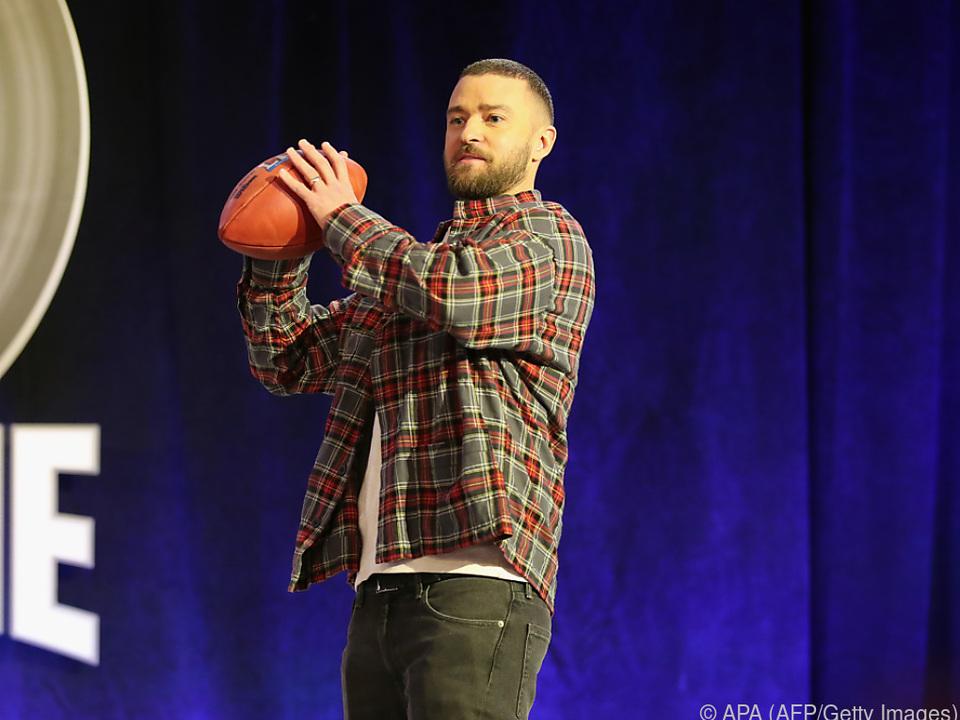 Timberlake stimmt sich schon aus Spiel ein