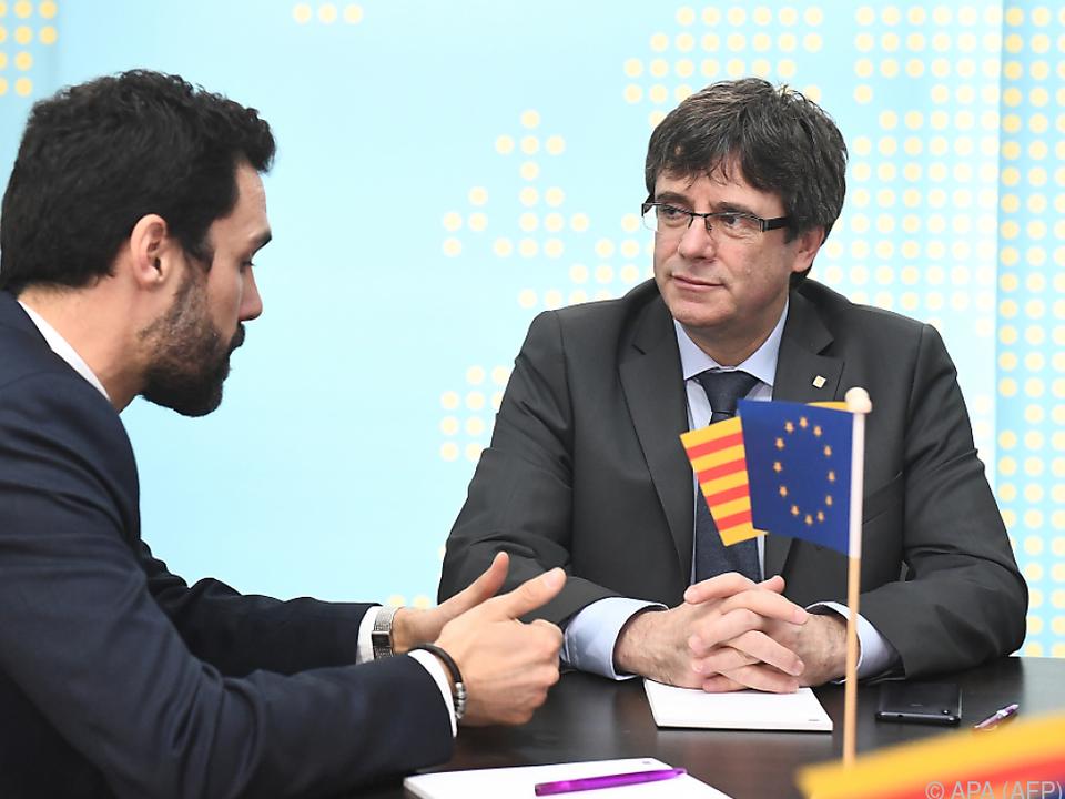 Torrent bekannte sich zu  Puigdemont