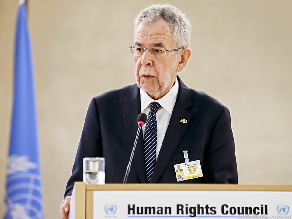 Van der Bellen bei der UNO in Genf