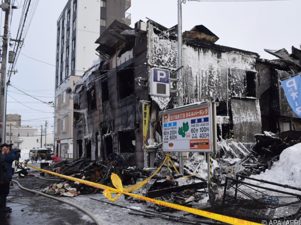Verheerender Brand in Sapporo