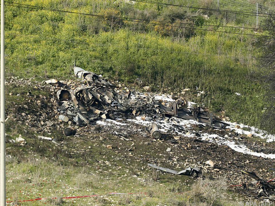 Vom F16-Kampfjet blieb nicht mehr viel über