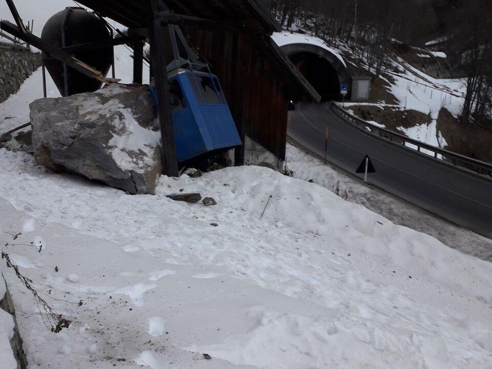 Schnals Steinschlag Winter 989818_senales_frana_neve