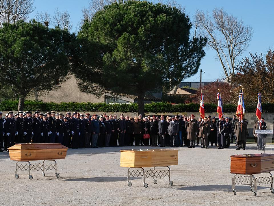 Abschied von den Terroropfern in Carcassonne