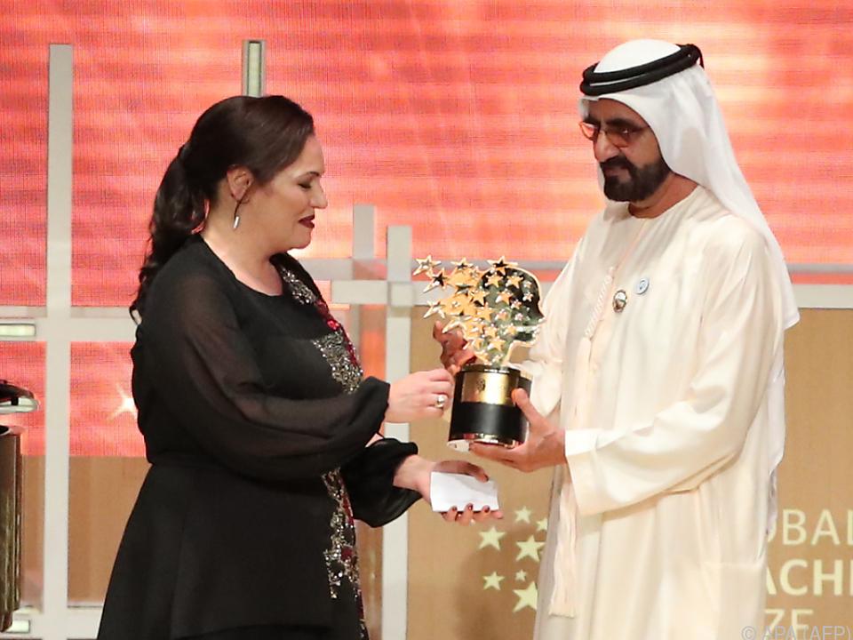 Andria Zafirakou erhielt in Dubai den \