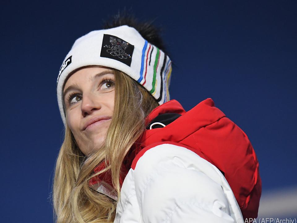 Anna Gasser gewann mit 93 Punkten vor Fujimori und Onitsuka