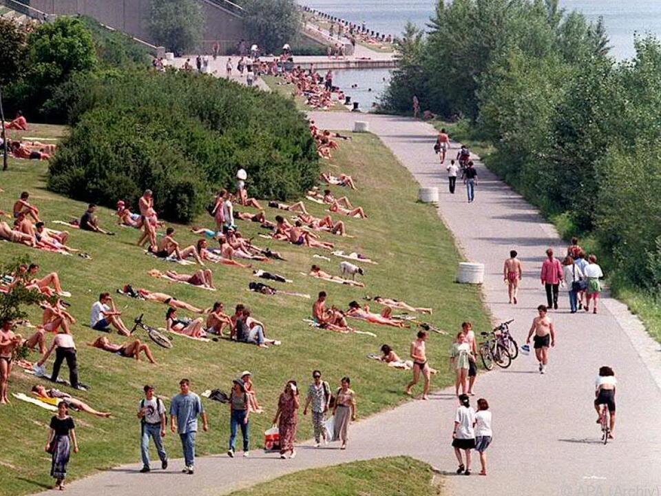 Auch die Errichtung der Donauinsel im Jahr 1972 ist ein Thema
