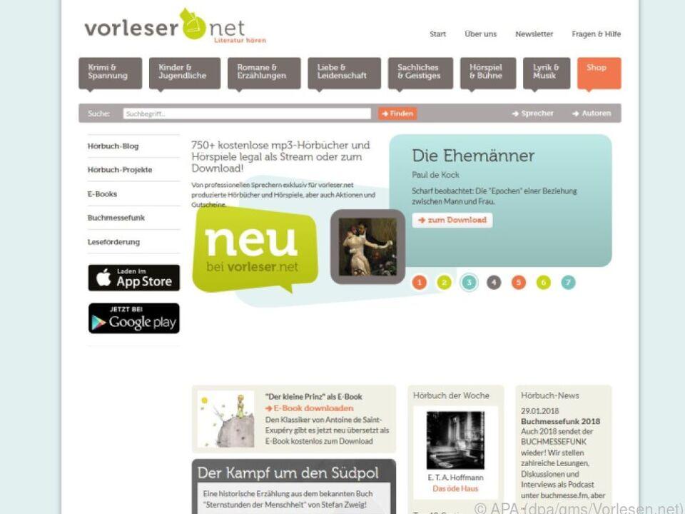 Auf Vorlesen.net gibt es über als 750 von Profis eingesprochene Hörbücher