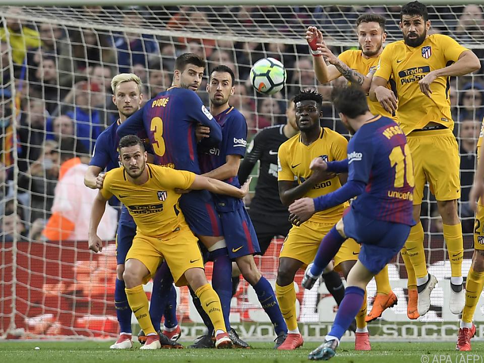 Barca-Star Messi macht den Unterschied und trifft gegen Atletico