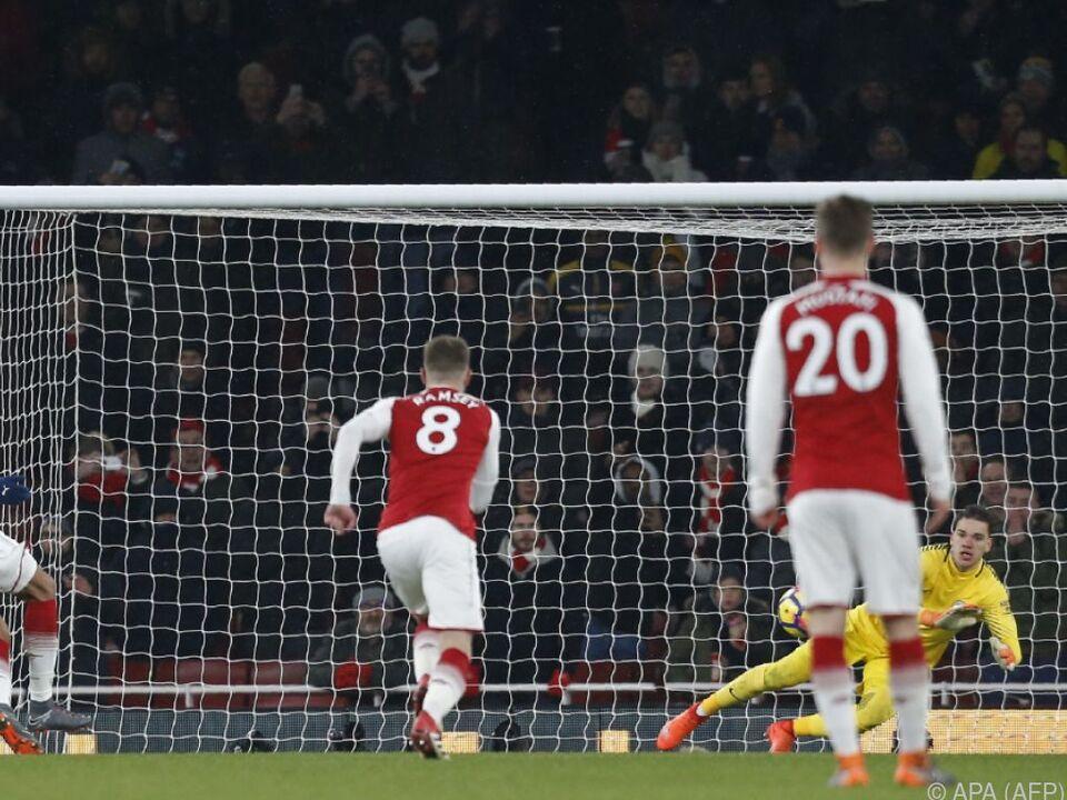 Bei Arsenal ging alles schief: Aubameyang verschoss einen Elfmeter