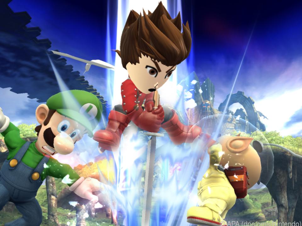Beliebte Figuren aus Nintendos Videospielen treten gegeneinander an