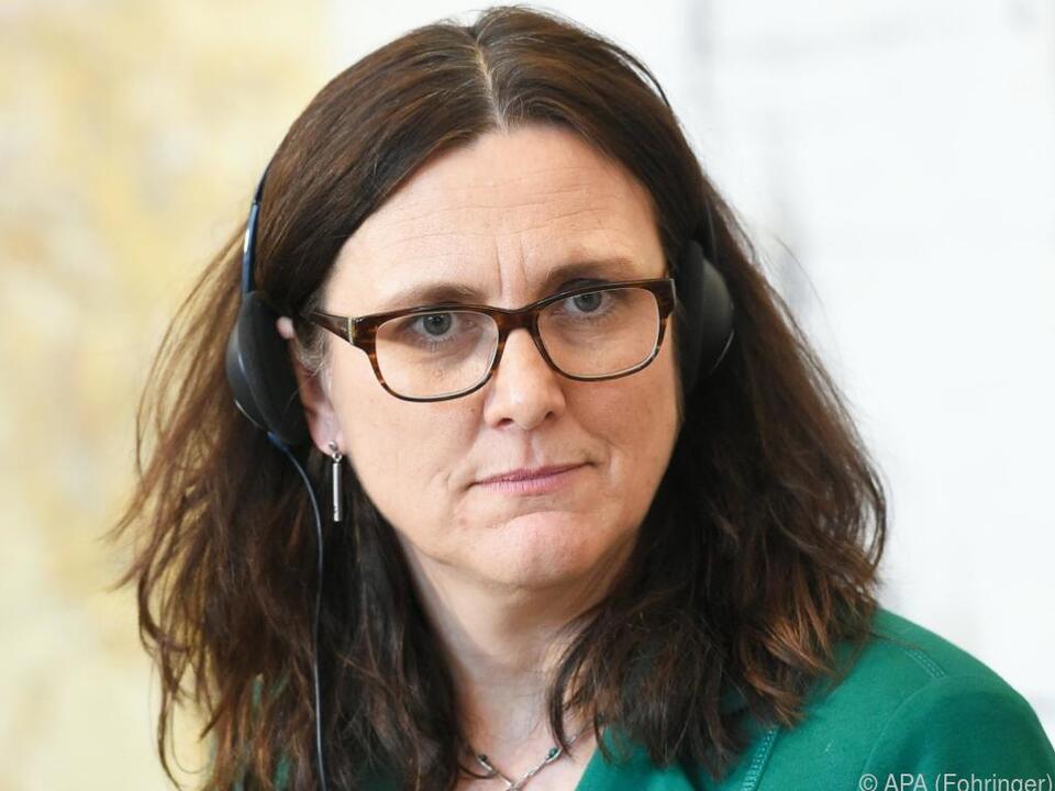 Cecilia Malmström holt sich Partner auf ihre Seite