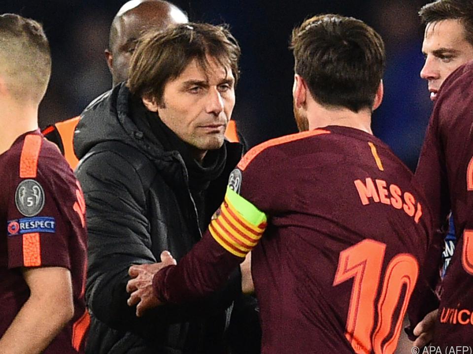 Conte wird es wohl wieder mit Defensive gegen Messi und Co probieren