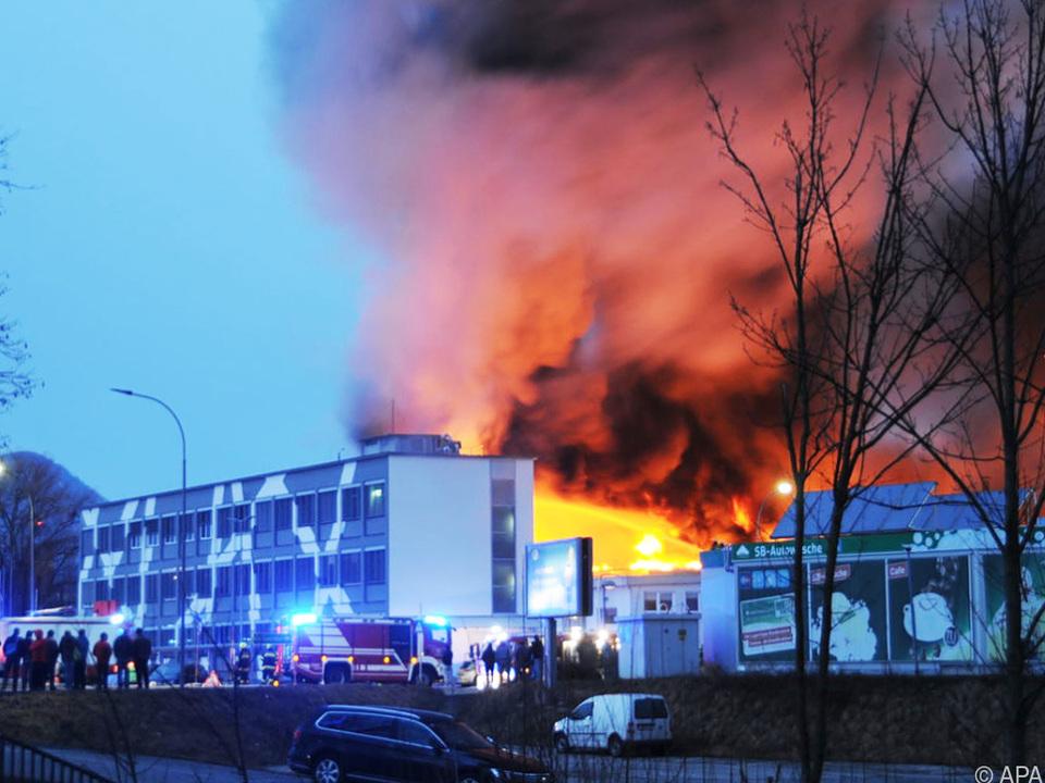 Das Firmengelände wurde evakuiert