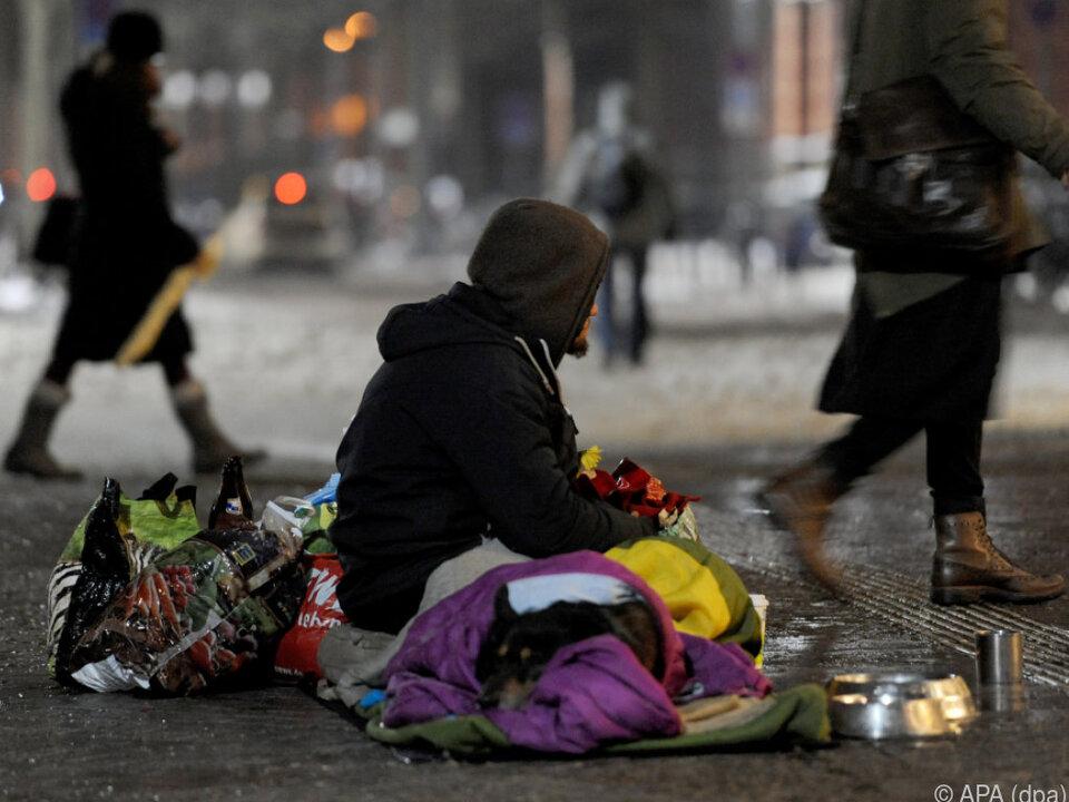 Derzeit herrschende Kälte für Obdachlose lebensgefährlich