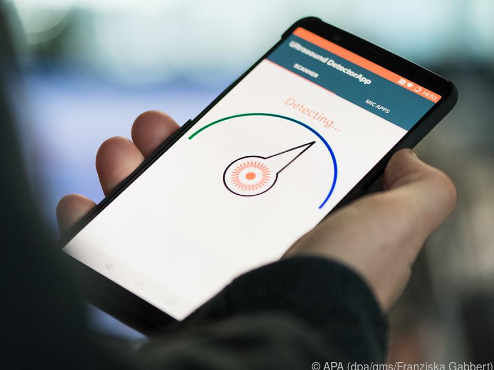 Die App Ultrasound DetectorApp spürt laut Entwicklern Ultraschall-Beacons auf