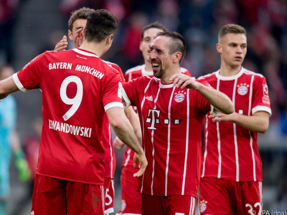 Die Bayern wollen sich abermals vorzeigit zum Meister küren