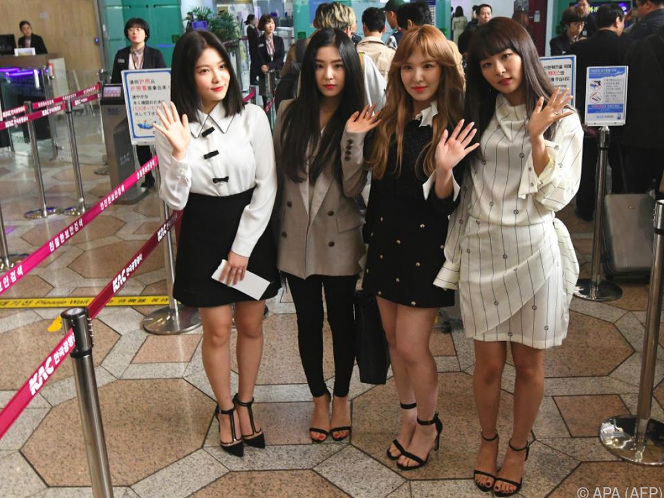 Die Girlgroup Red Velvet tritt in Nordkorea auf