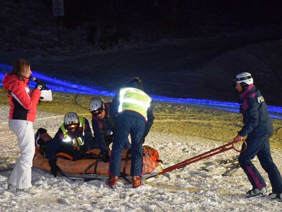 Polizei Pisteneinheit Übung Nacht