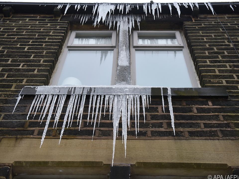 Eisige Temperaturen ließen Wasserleitungen platzen