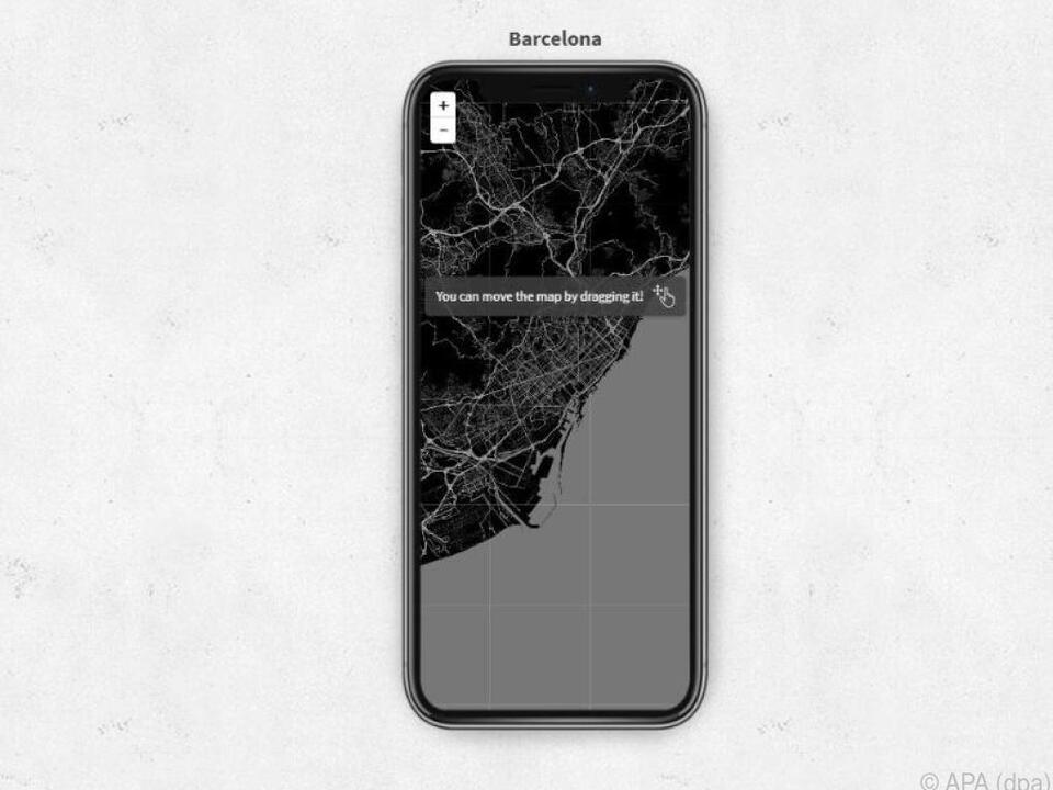 Erinnerung an den Urlaub in Barcelona für den Smartphonebildschirm